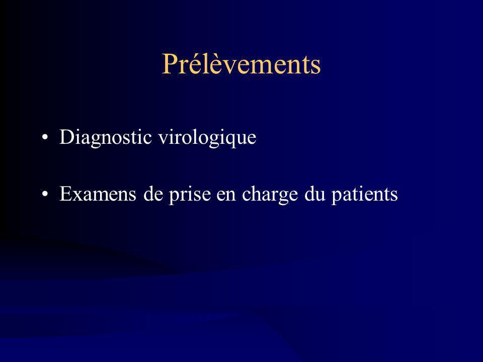 Prélèvements Diagnostic virologique