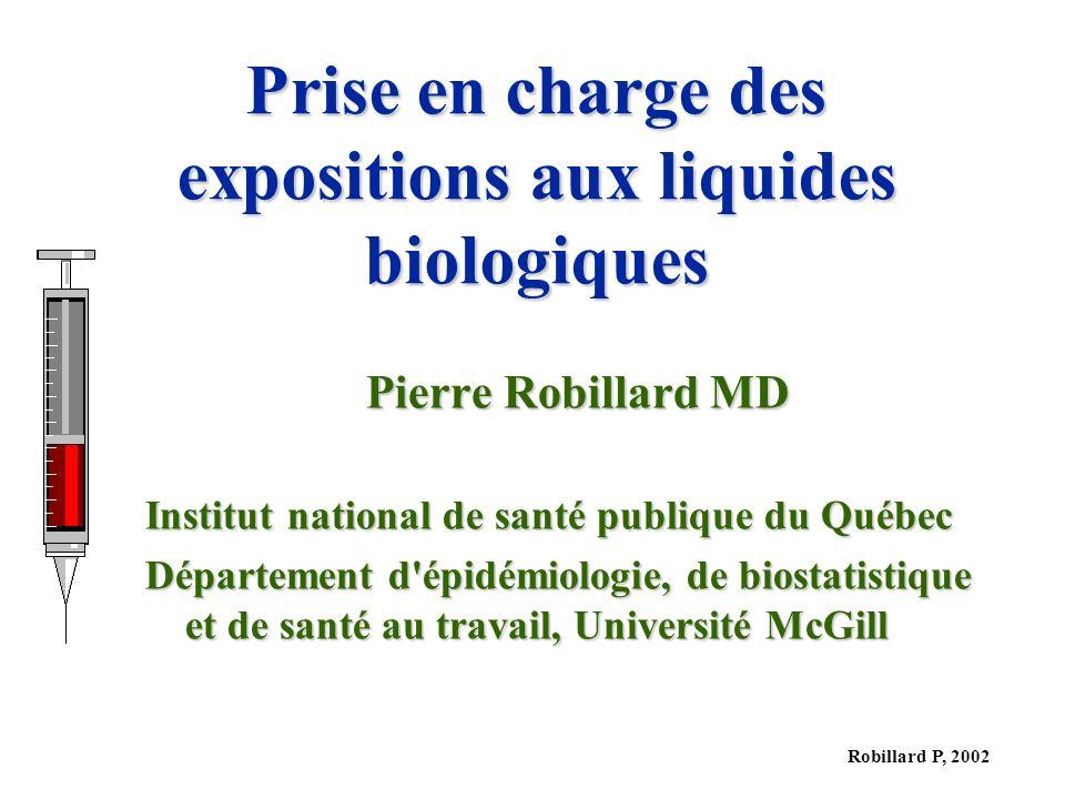 Prise en charge des expositions aux liquides biologiques