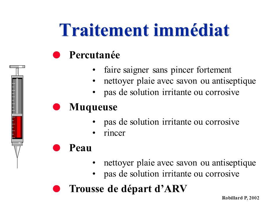 Traitement immédiat Percutanée Muqueuse Peau Trousse de départ d'ARV