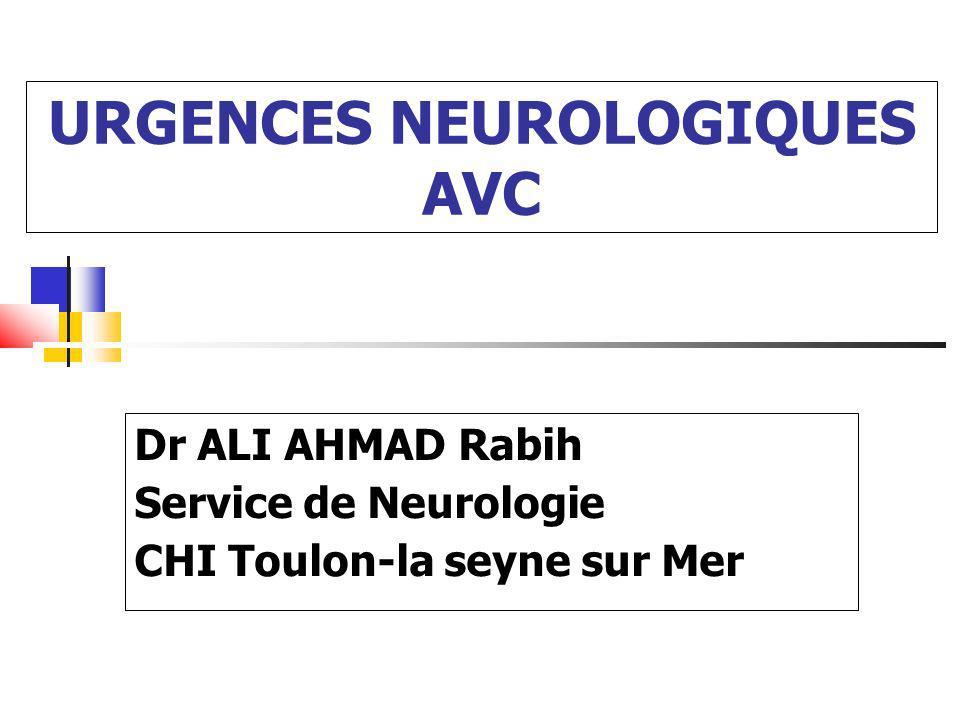 URGENCES NEUROLOGIQUES AVC
