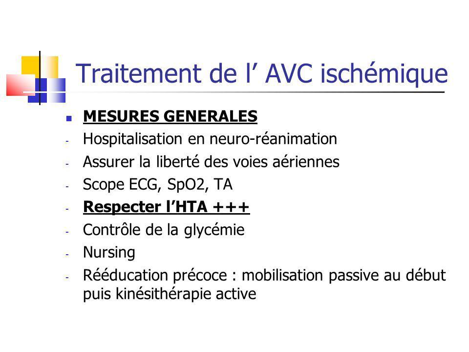 Traitement de l' AVC ischémique