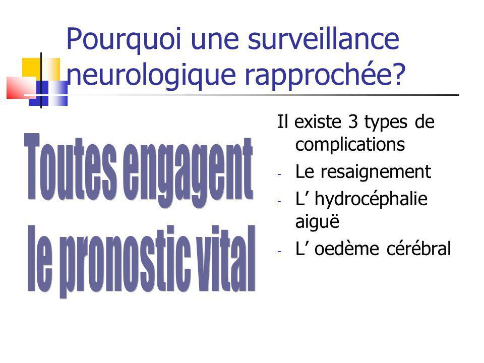 Pourquoi une surveillance neurologique rapprochée