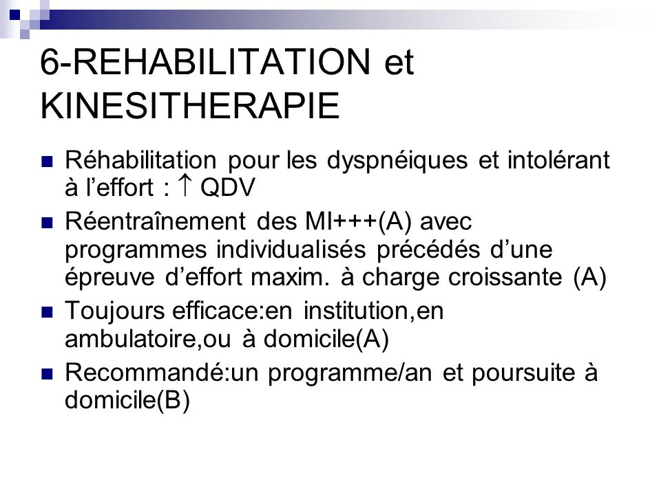 6-REHABILITATION et KINESITHERAPIE