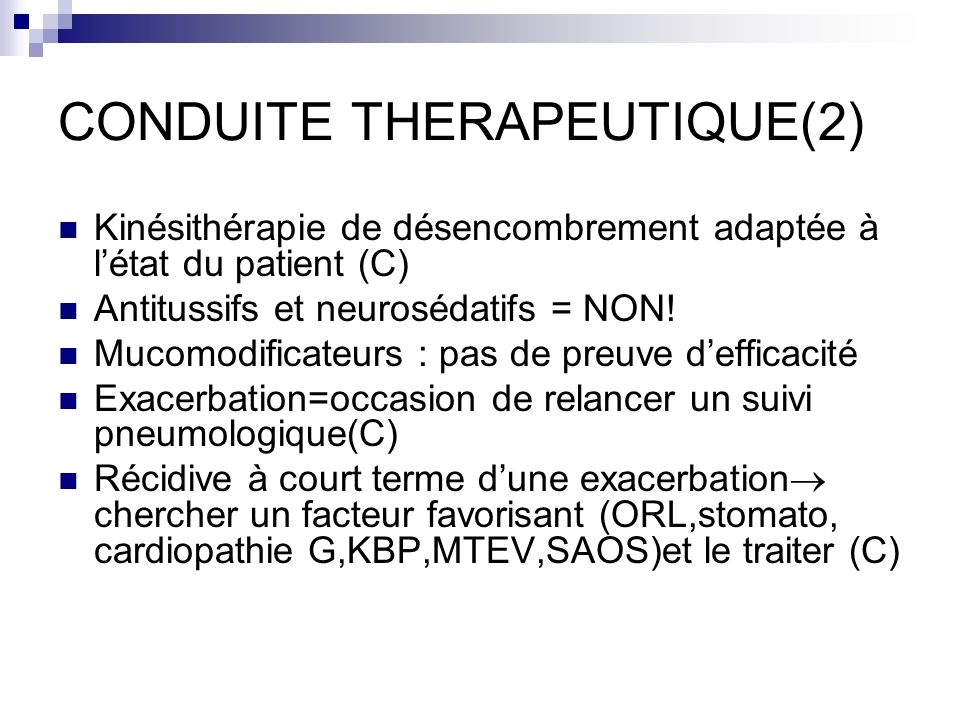CONDUITE THERAPEUTIQUE(2)