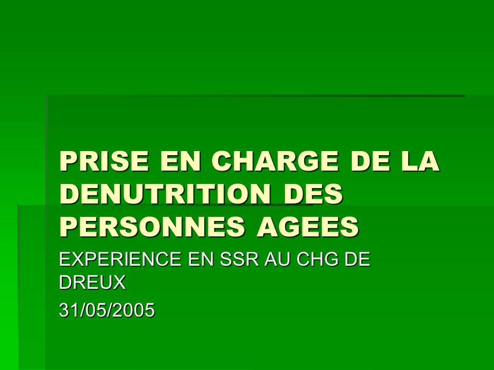 PRISE EN CHARGE DE LA DENUTRITION DES PERSONNES AGEES