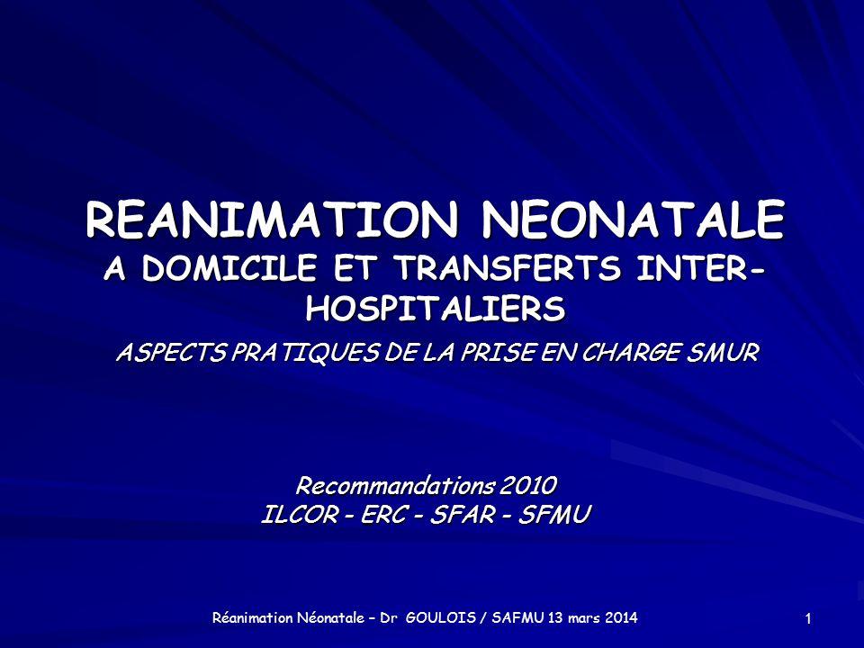 Recommandations 2010 ILCOR - ERC - SFAR - SFMU