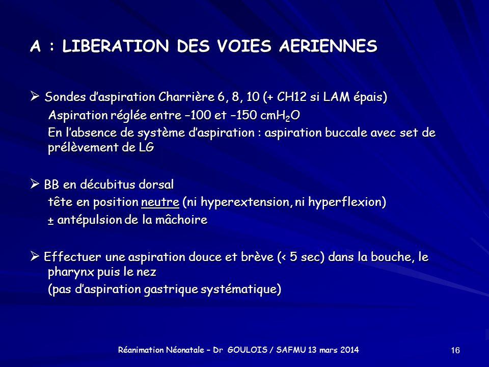 A : LIBERATION DES VOIES AERIENNES