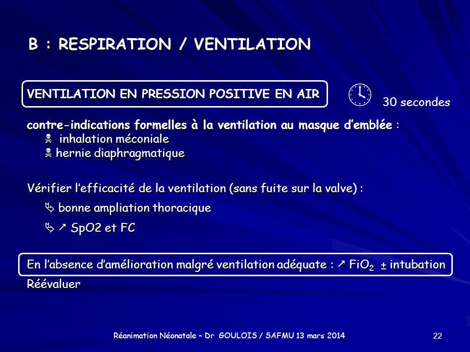 B : RESPIRATION / VENTILATION