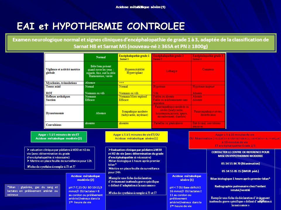 EAI et HYPOTHERMIE CONTROLEE