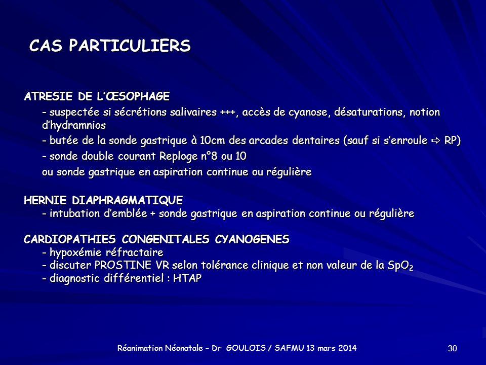 Réanimation Néonatale – Dr GOULOIS / SAFMU 13 mars 2014