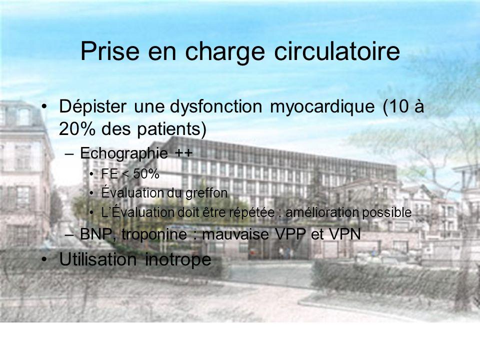 Prise en charge circulatoire
