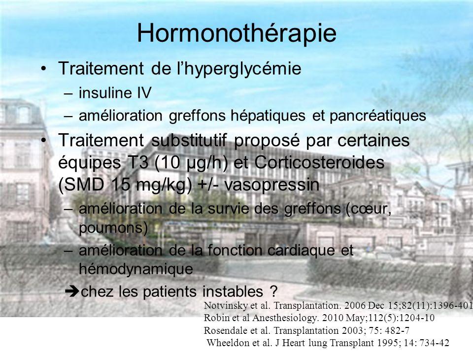Hormonothérapie Traitement de l'hyperglycémie