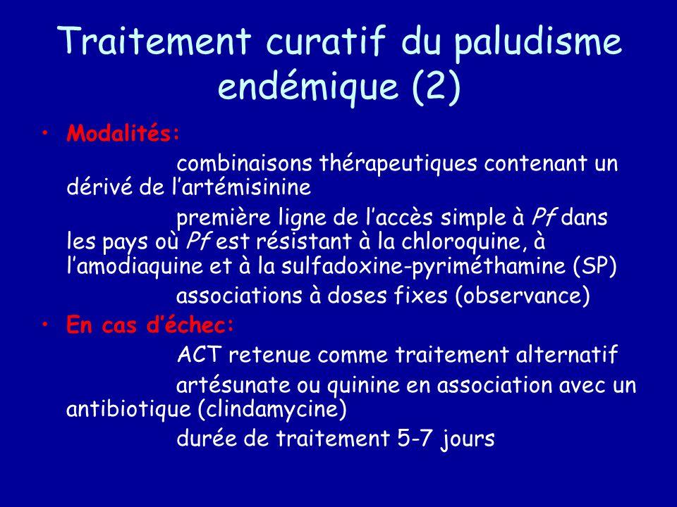 Traitement curatif du paludisme endémique (2)