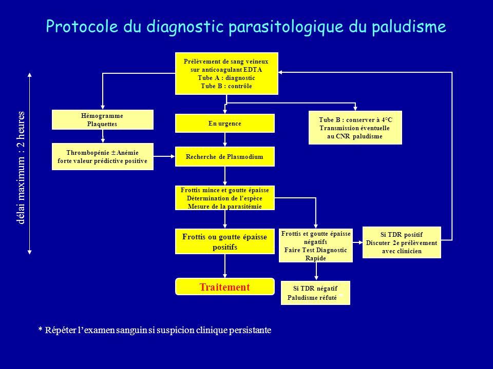 Protocole du diagnostic parasitologique du paludisme