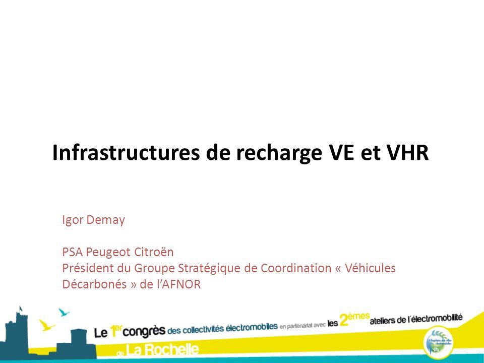 Infrastructures de recharge VE et VHR