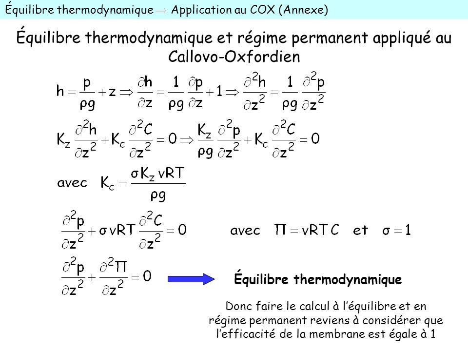 Équilibre thermodynamique