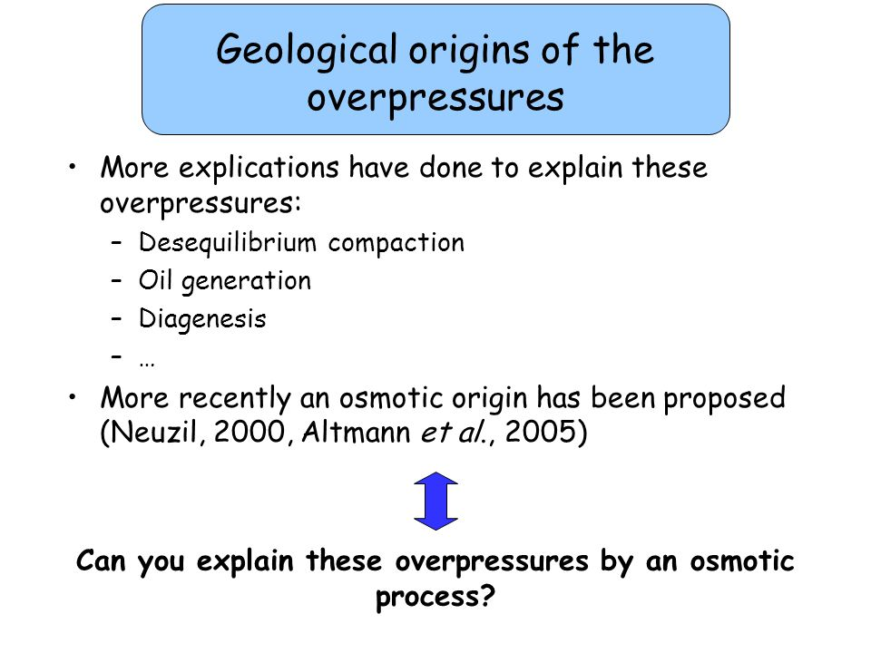 Can you explain these overpressures by an osmotic process