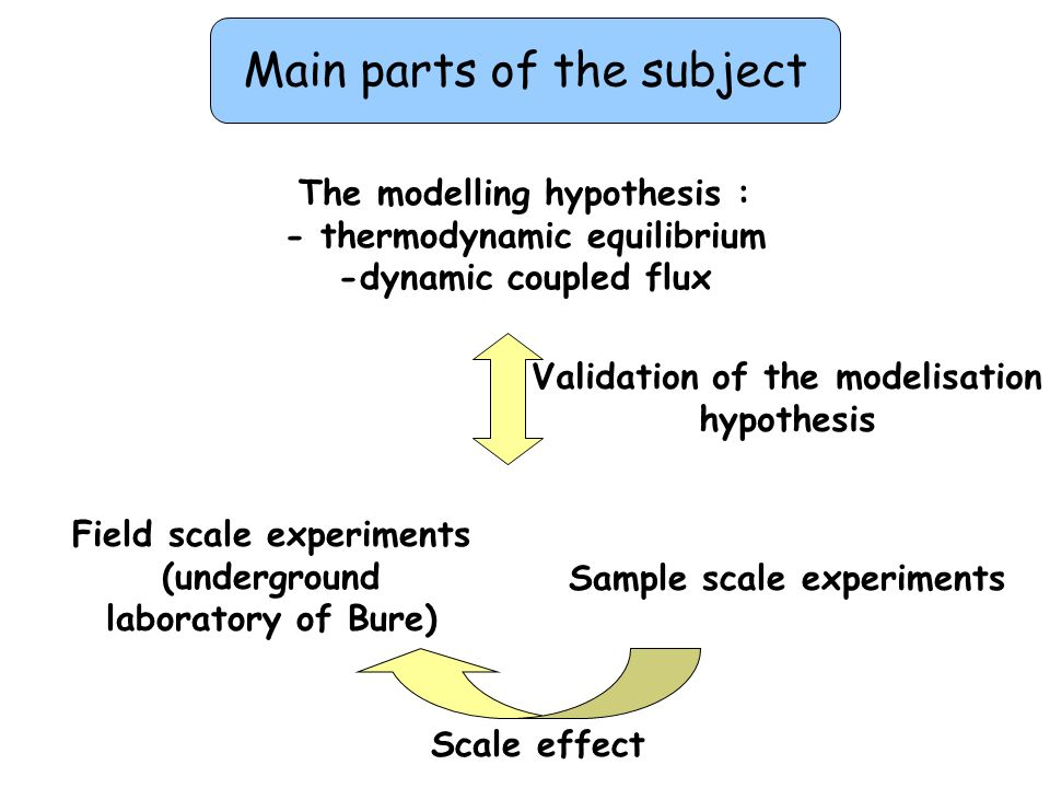 Main parts of the subject
