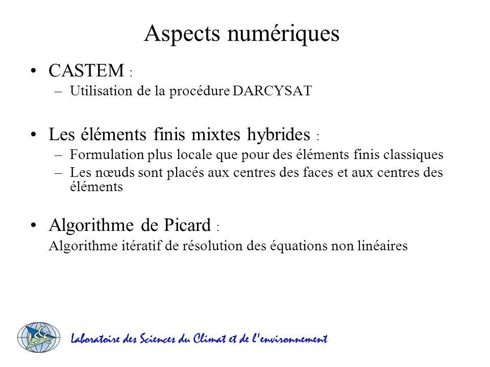 Aspects numériques CASTEM : Les éléments finis mixtes hybrides :