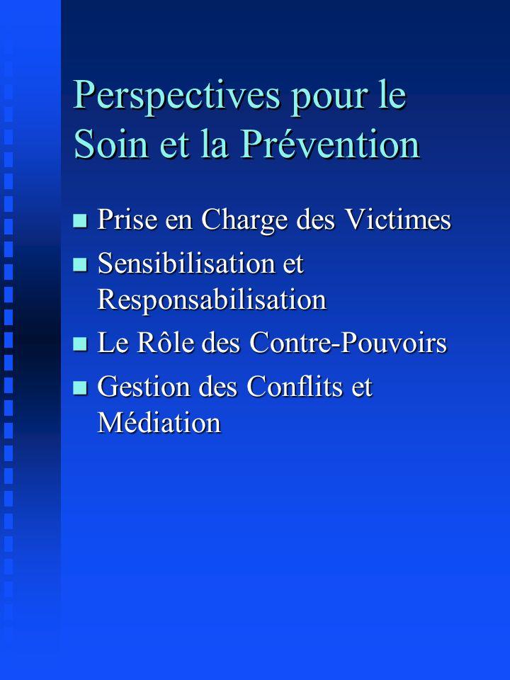 Perspectives pour le Soin et la Prévention