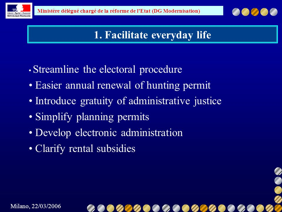 1. Facilitate everyday life