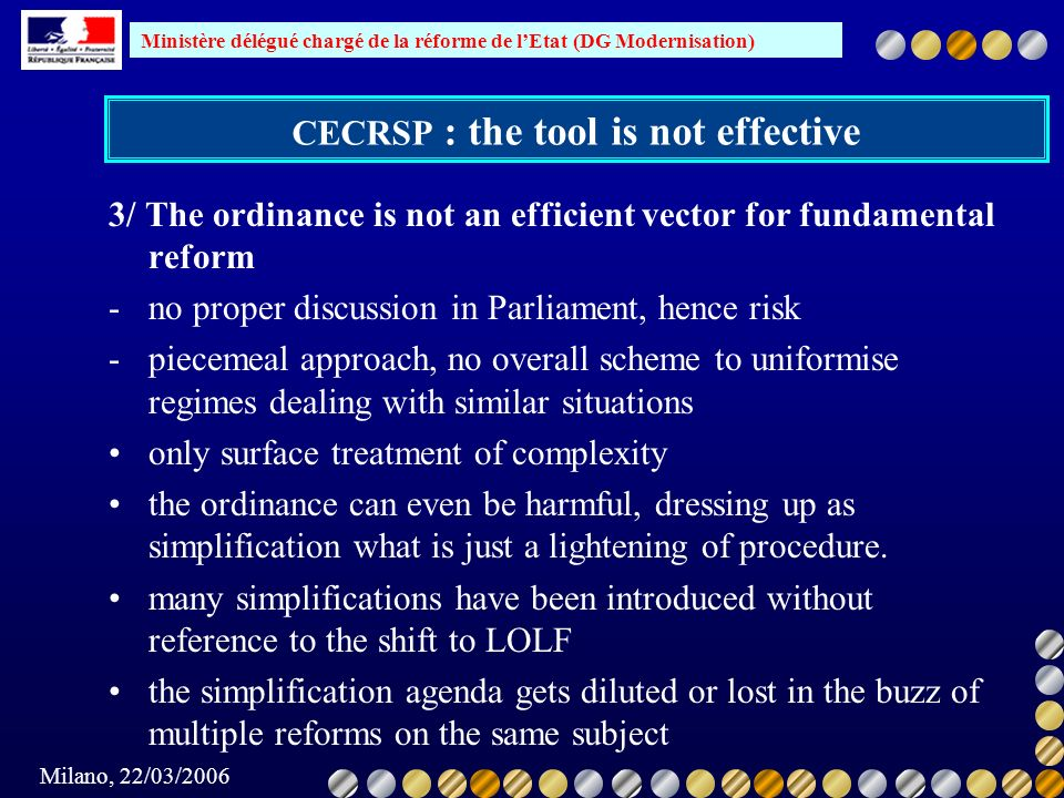 CECRSP : the tool is not effective