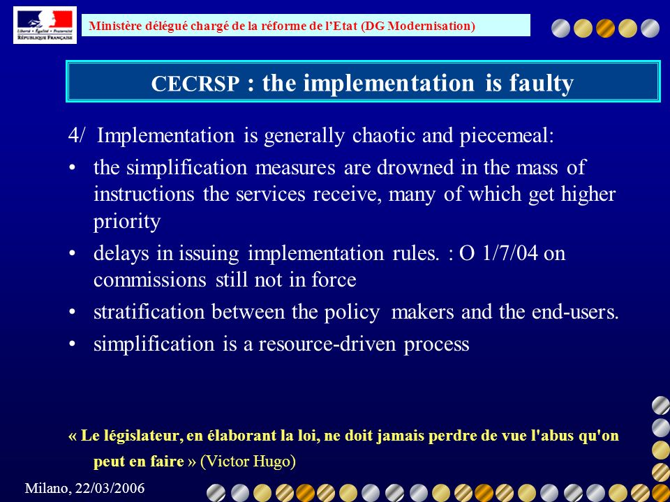 CECRSP : the implementation is faulty