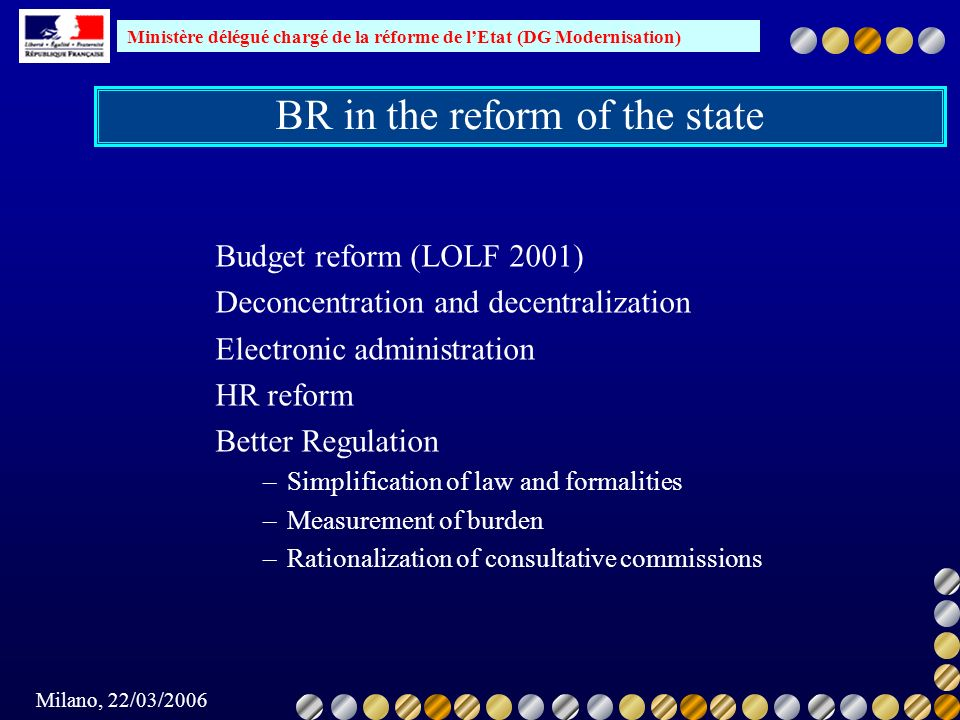 BR in the reform of the state