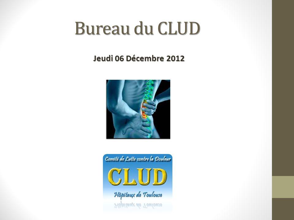 Bureau du CLUD Jeudi 06 Décembre 2012