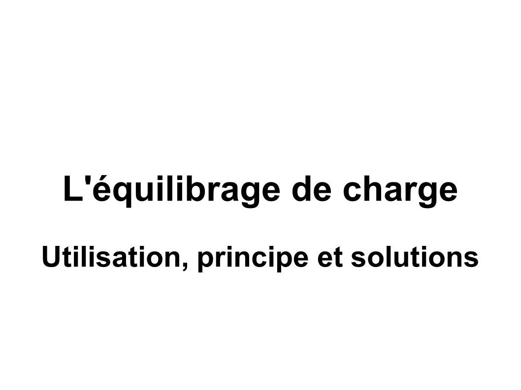 L équilibrage de charge Utilisation, principe et solutions