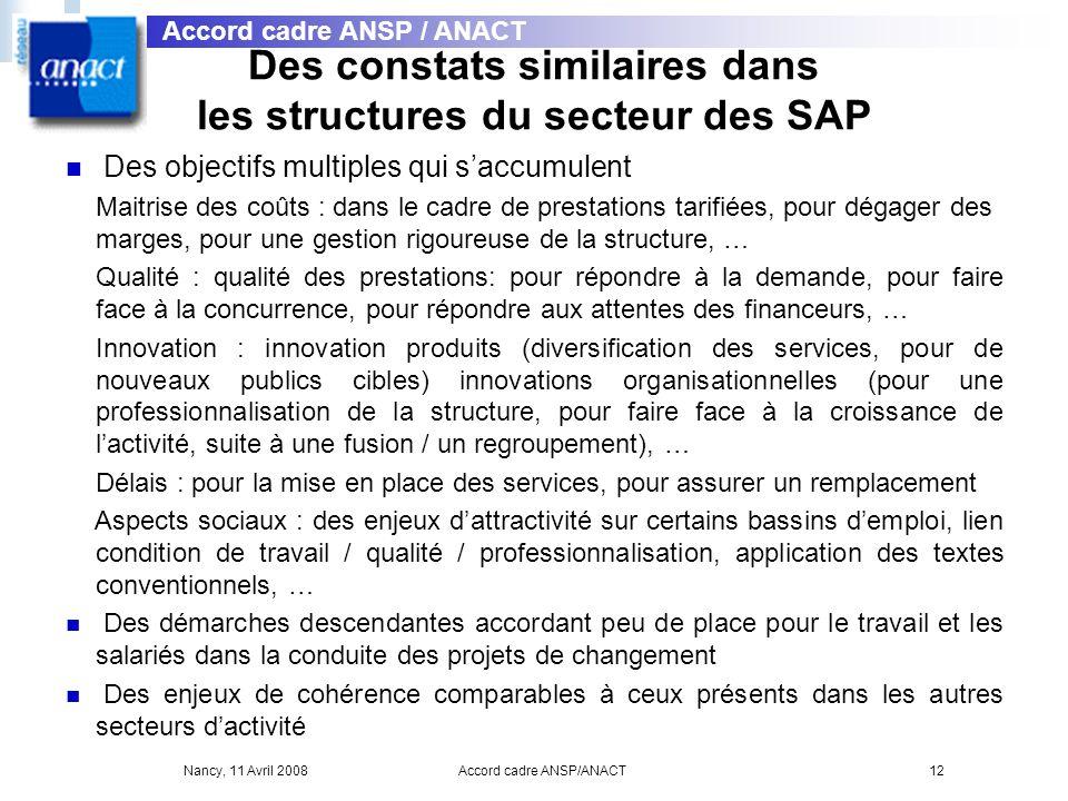 Des constats similaires dans les structures du secteur des SAP