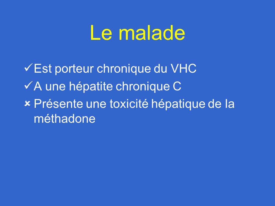 Le malade Est porteur chronique du VHC A une hépatite chronique C