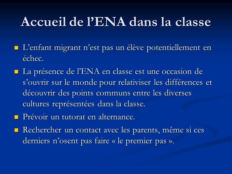 Accueil de l'ENA dans la classe