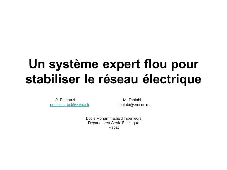 Un système expert flou pour stabiliser le réseau électrique