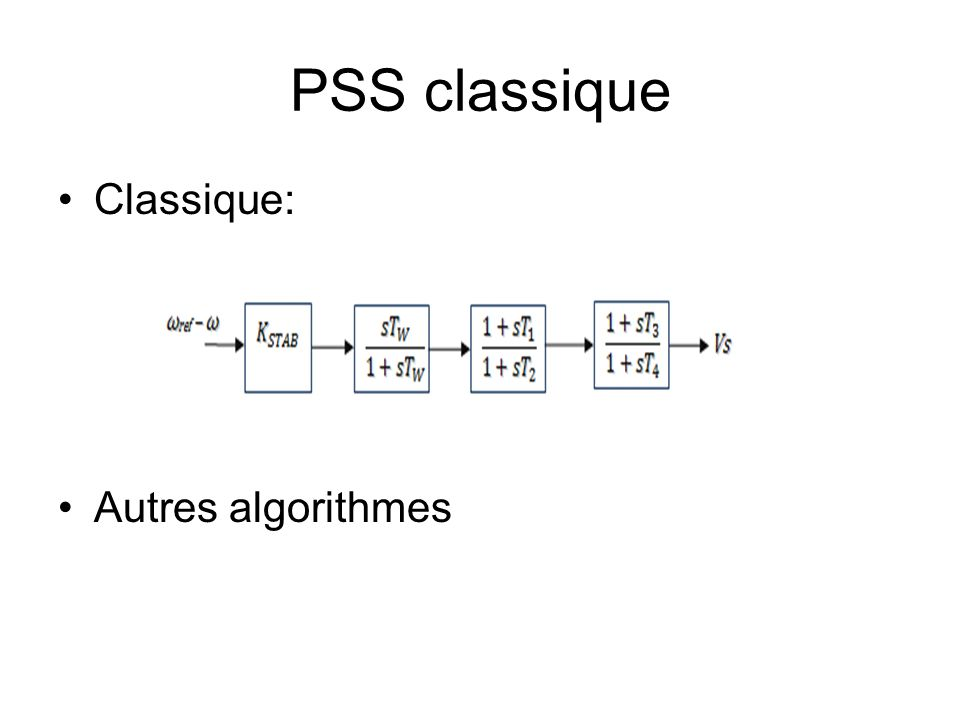 PSS classique Classique: Autres algorithmes