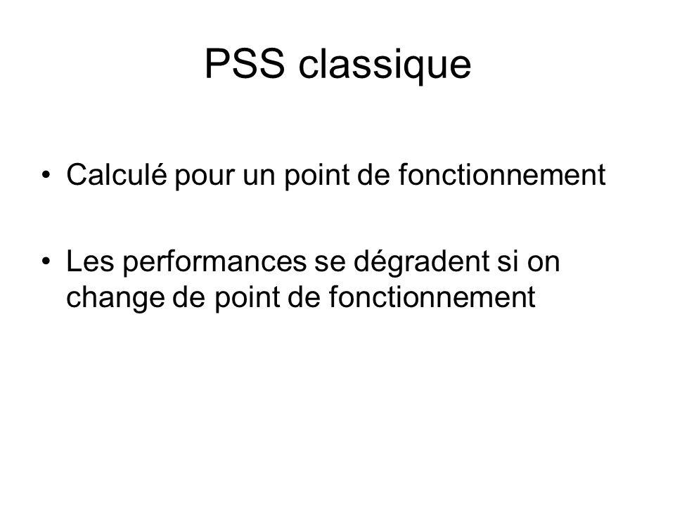 PSS classique Calculé pour un point de fonctionnement
