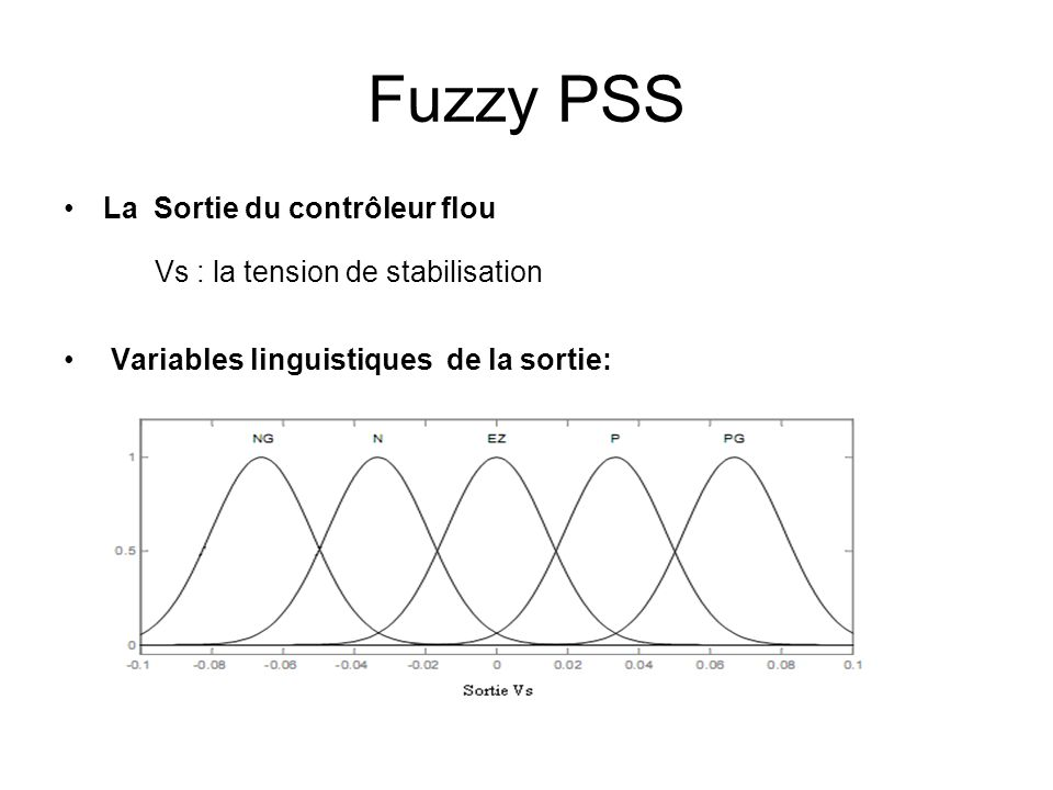 Fuzzy PSS Vs : la tension de stabilisation