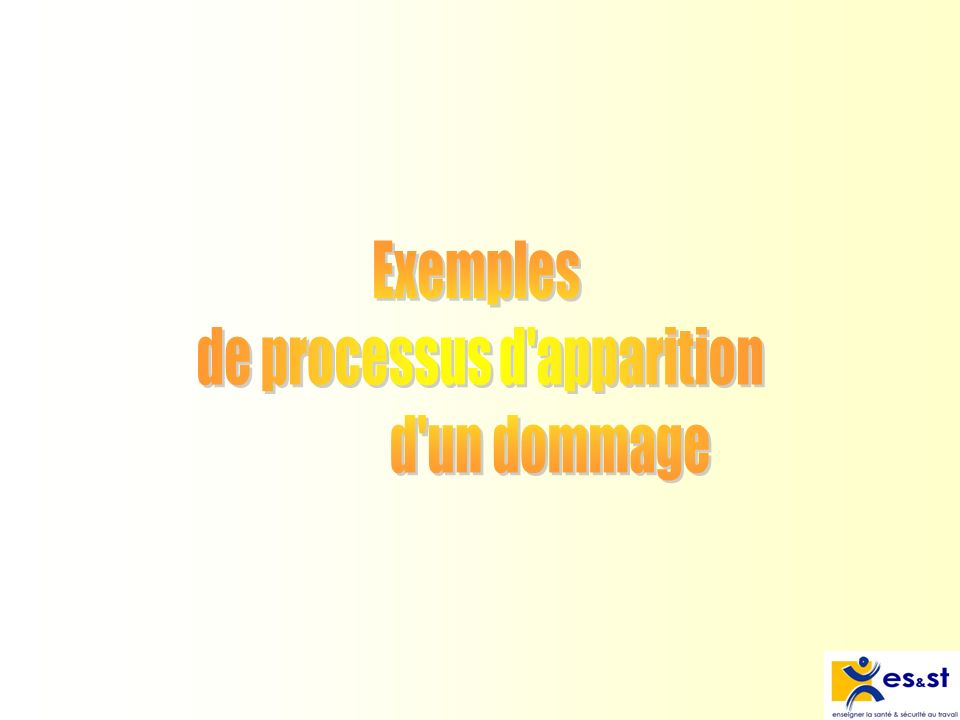 de processus d apparition