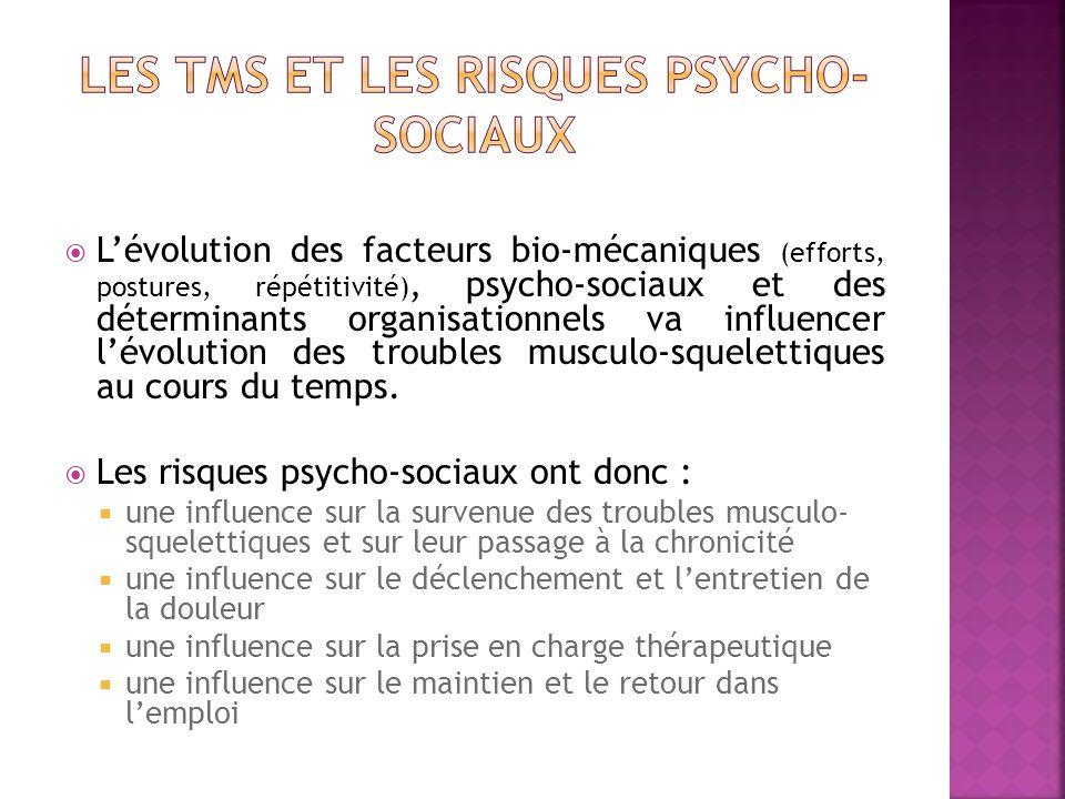 Les TMS et les risques psycho-sociaux
