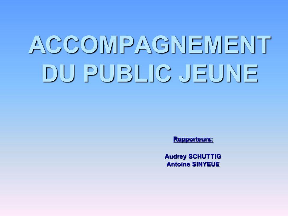 ACCOMPAGNEMENT DU PUBLIC JEUNE. Rapporteurs:. Audrey SCHUTTIG
