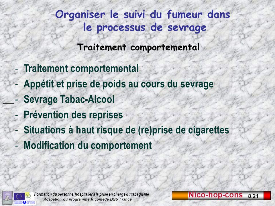 Organiser le suivi du fumeur dans le processus de sevrage