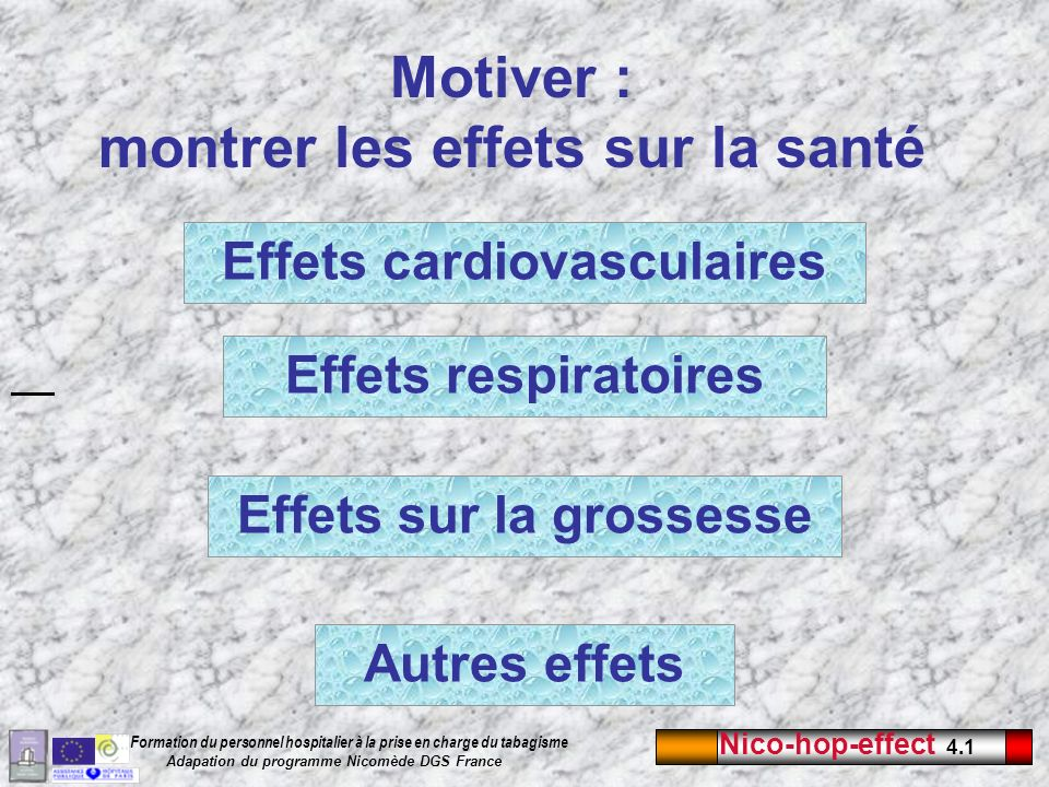 Motiver : montrer les effets sur la santé
