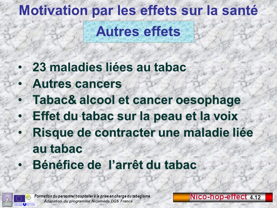 Motivation par les effets sur la santé