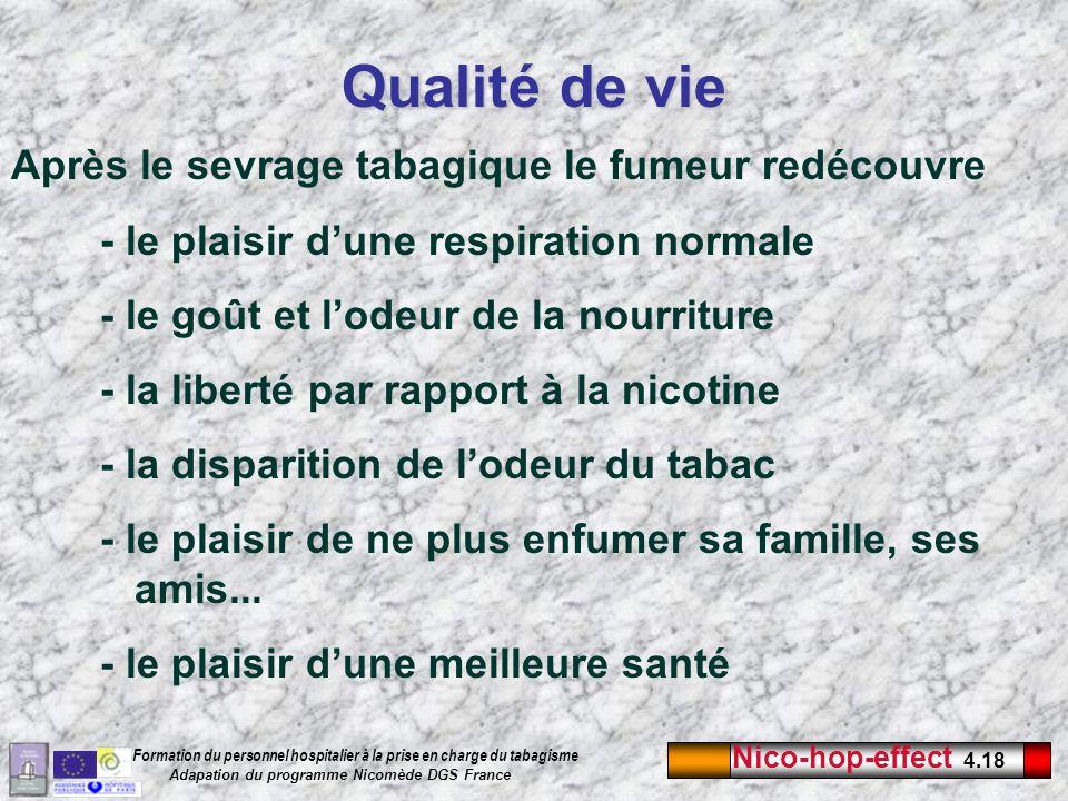 Qualité de vie Après le sevrage tabagique le fumeur redécouvre