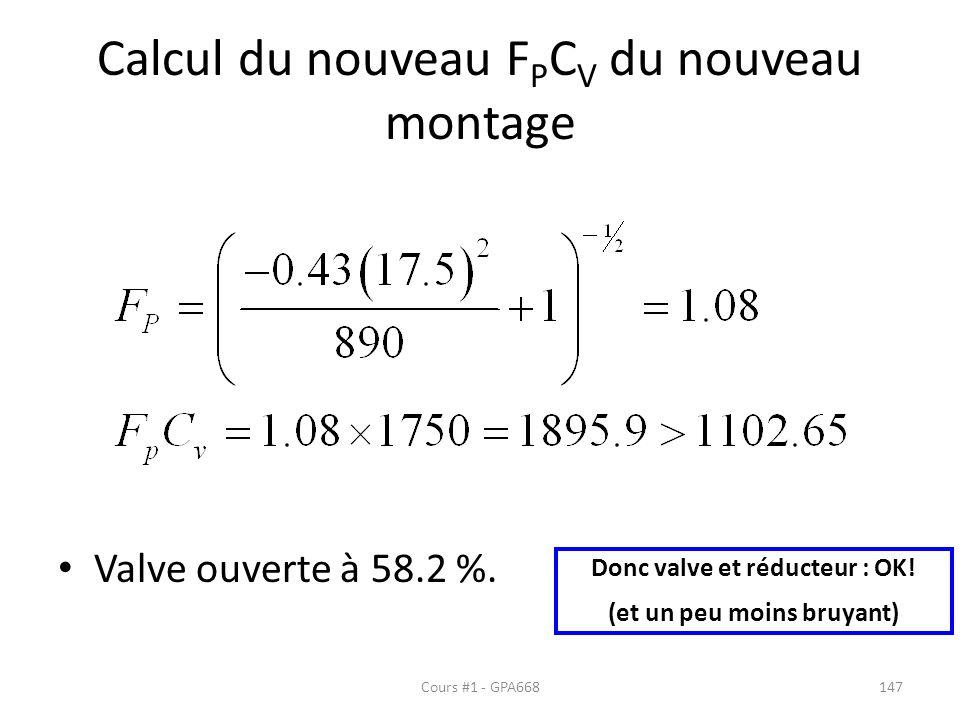 Calcul du nouveau FPCV du nouveau montage