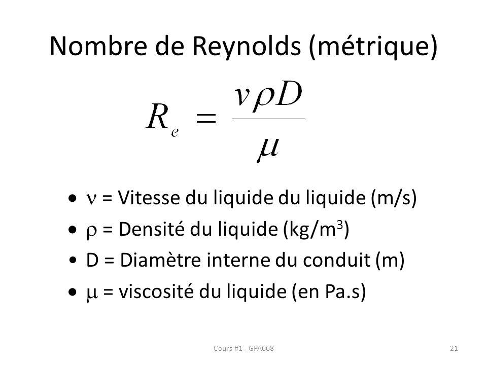 Nombre de Reynolds (métrique)