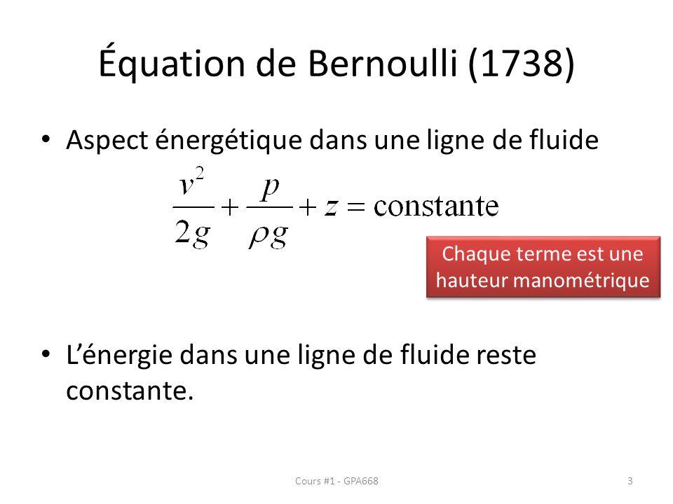 Équation de Bernoulli (1738)