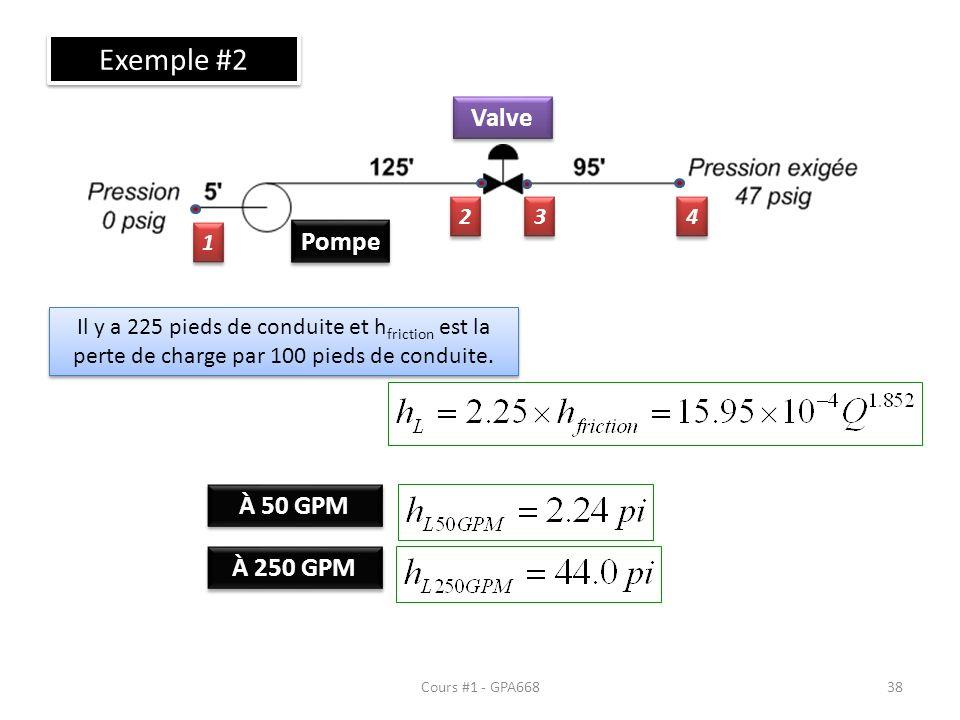 Exemple #2 Valve Pompe À 50 GPM À 250 GPM 2 3 4 1