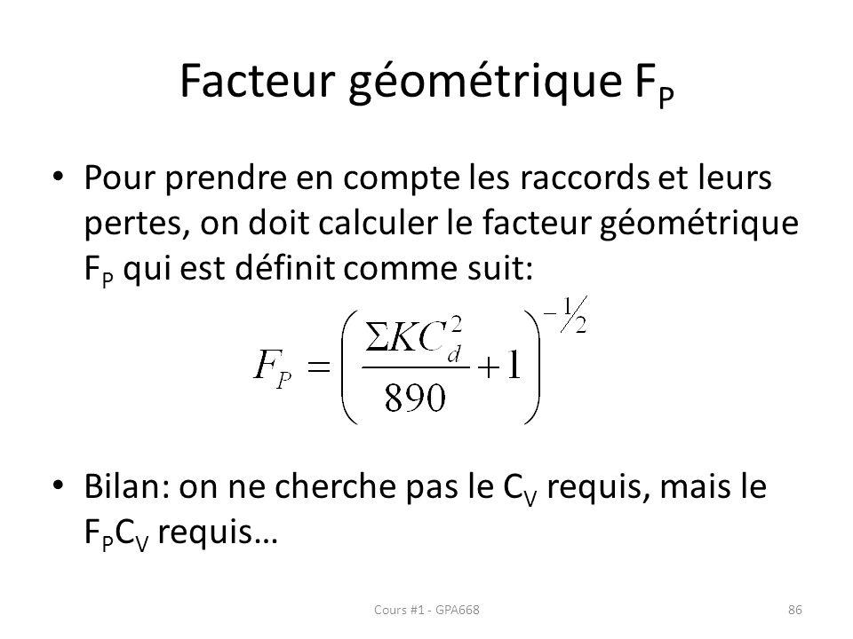 Facteur géométrique FP