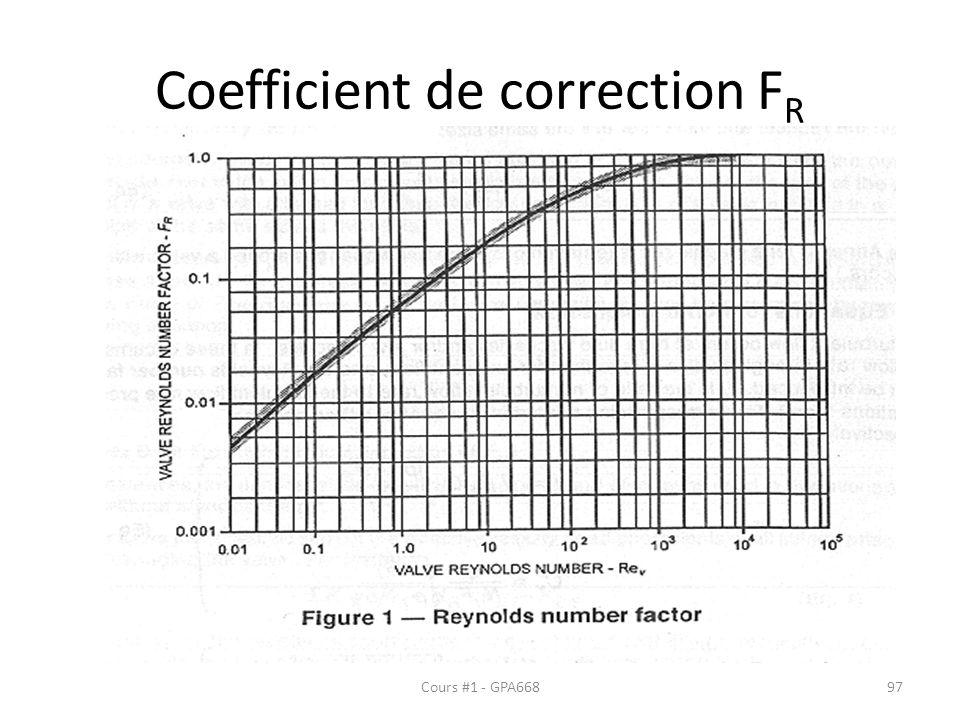 Coefficient de correction FR